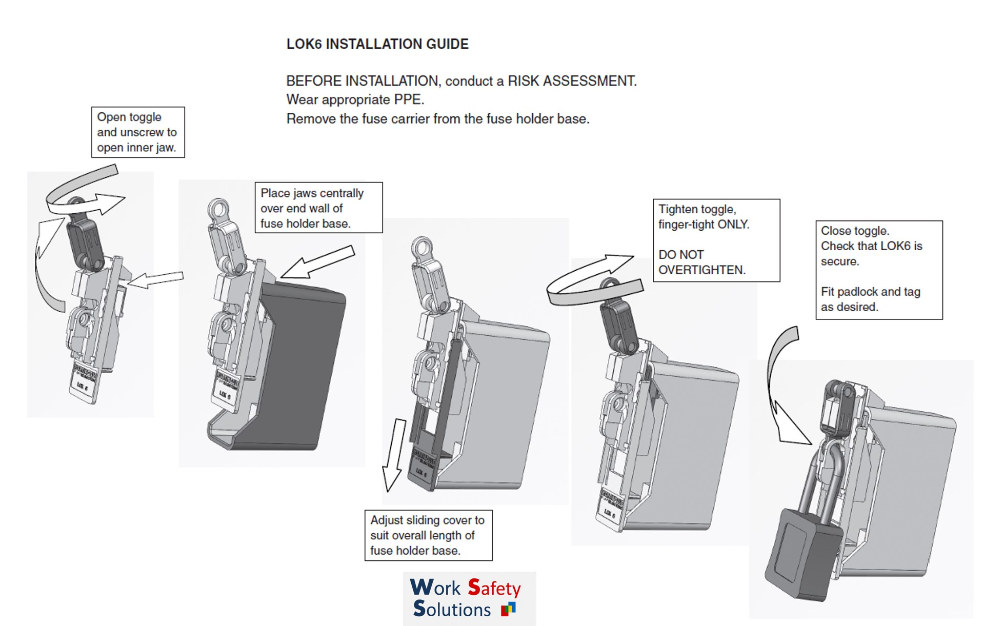 Martindale Lok6 Universal Fuse Carrier Isolation Lock Work The Last Of Us  Box The Lok6 Is A Universal Locking Off Device For Fuse Carriers Designed  To ...