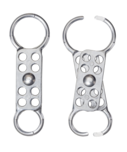 Safety Hasp, Dual Jaw, Aluminium