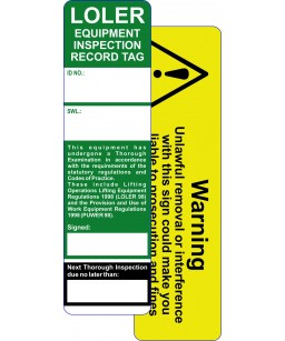 Loler Safety Inspection Tag