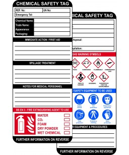 Chemical Safety Tag Inserts...