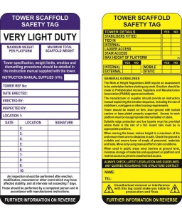 Tower Scaffold Safety Tag...