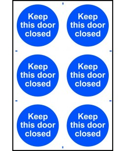 Keep this door closed Sign