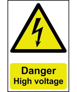 Danger High voltage Safety...