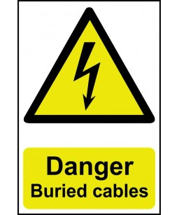 Danger Buried cables Safety...