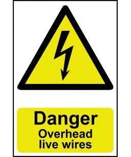 Danger overhead live wires...