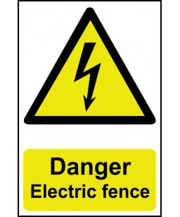 Danger Electric fence...
