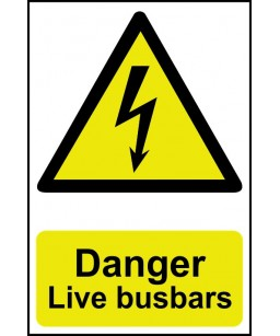 Danger Live busbars Safety...