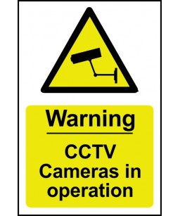 Warning CCTV Cameras in...