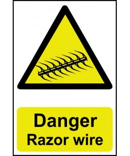 Danger Razor wire Safety Sign