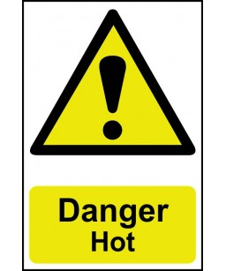 Danger Hot Safety Sign
