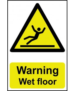 Warning Wet floor Safety Sign