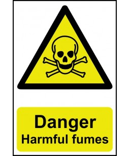 Danger Harmful fumes Safety...