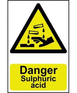 Danger Sulphuric acid...