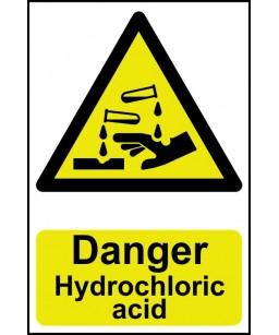 Danger Hydrochloric acid...