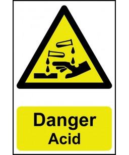 Danger Acid Safety Sign