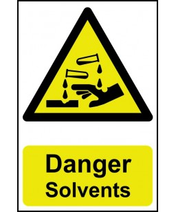 Danger Solvents Safety Sign