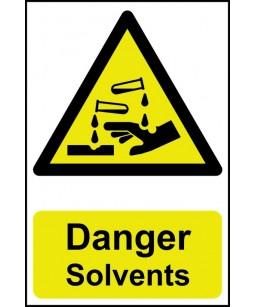 Danger Solvents Safety Sign