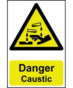 Danger Caustic Safety Sign