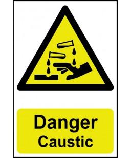 Danger Caustic Safety Sign