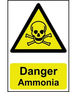 Danger Ammonia Safety Sign