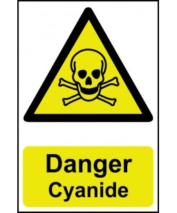 Danger Cyanide Safety Sign