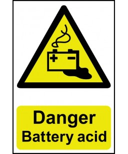 Danger Battery acid Safety...