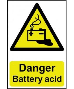 Danger Battery acid Safety...