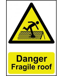 Danger Fragile roof Safety...