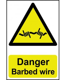 Danger Barbed wire Safety Sign