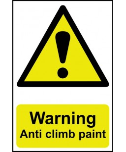 Warning Anti climb paint...