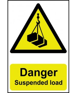 Danger Suspended load...