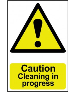 Caution Cleaning in...