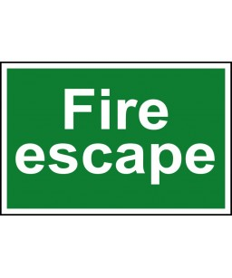 Fire escape Safety Sign