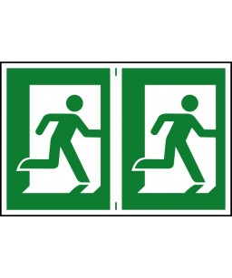 Running man Safety Sign