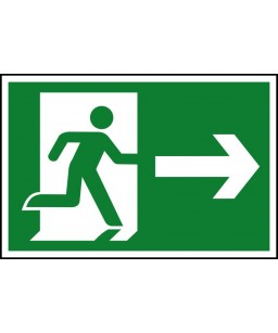 Running man Right Safety Sign
