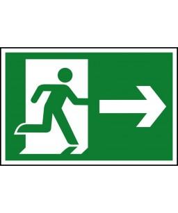 Running man Right Safety Sign