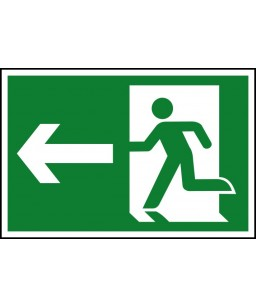 Running man Left Safety Sign