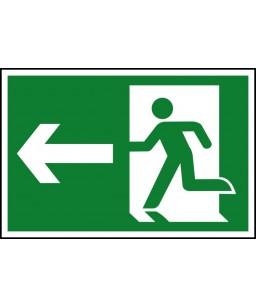 Running man Left Safety Sign