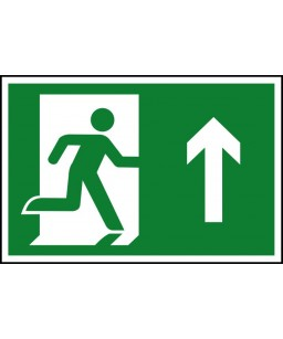 Running man up Safety Sign