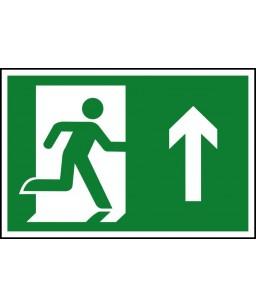 Running man up Safety Sign