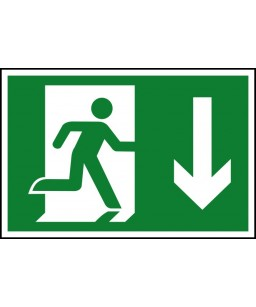 Running man down Safety Sign