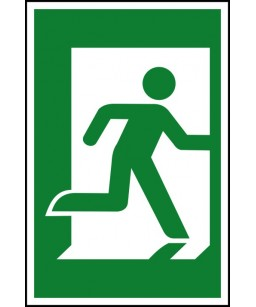Right exit Safety Sign