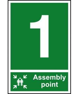 1 Assembly point Safety Sign
