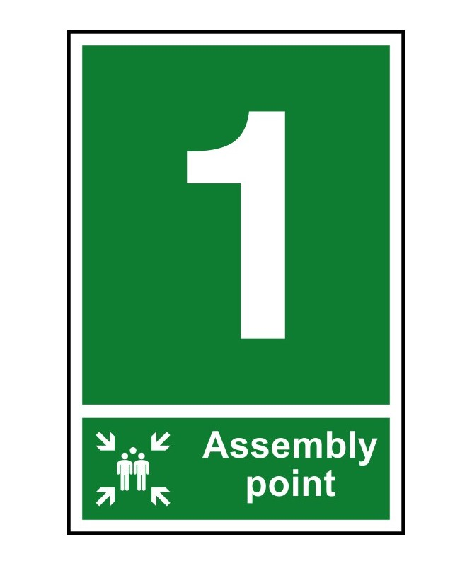 1 Point Safety >> 1 Assembly Point Safety Sign