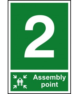 2 Assembly point Safety Sign