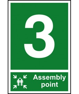 3 Assembly point Safety Sign