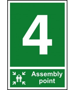 4 Assembly point Safety Sign