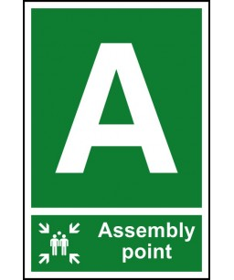 A Assembly point Safety Sign