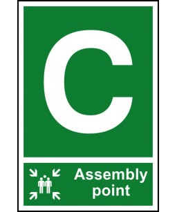 C Assembly point Safety Sign