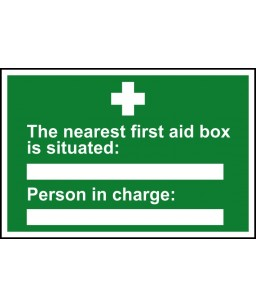 The nearest first aid box...